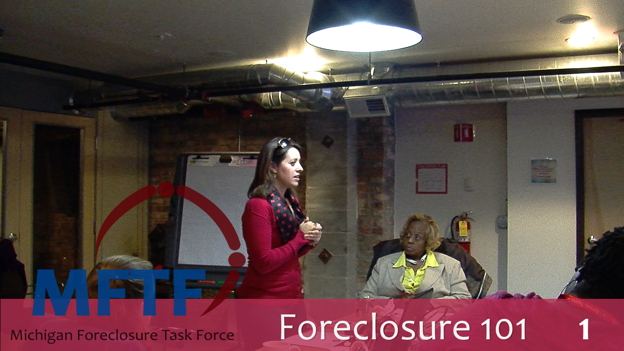 Foreclosure 101 and Step Forward Update