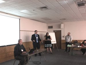 Daryl and the rest of his team present to the funding panel at Real Estate Development Boot Camp on June 8, 2018